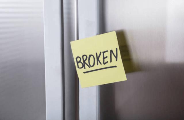 broken refrigerator image