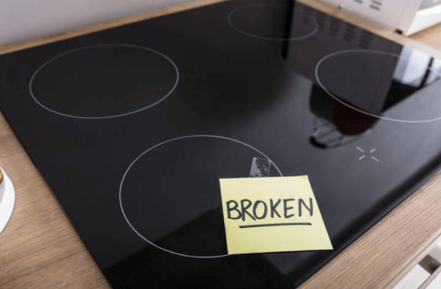 broken stove top